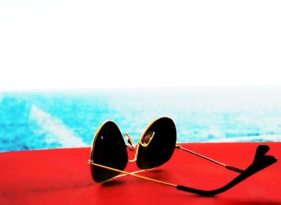 Sunglasses on table...