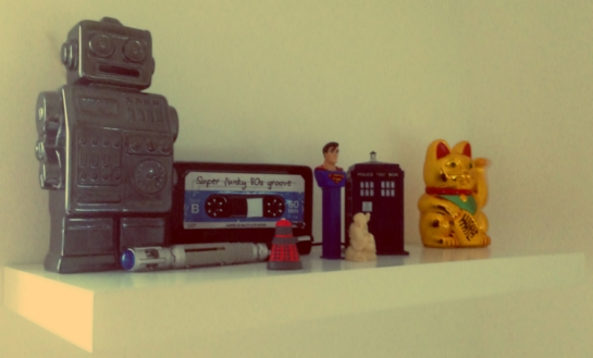 Still life...well except for the waving cat..