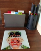 Worktop saver, chopping boards and knives...