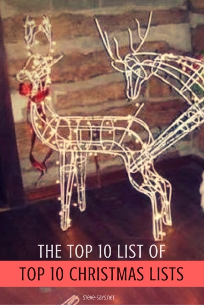 The top ten list of top ten christmas lists