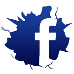 Cracked-Facebook-Logo