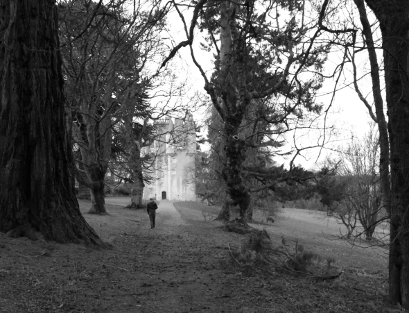 Walking towards Craigievar Castle