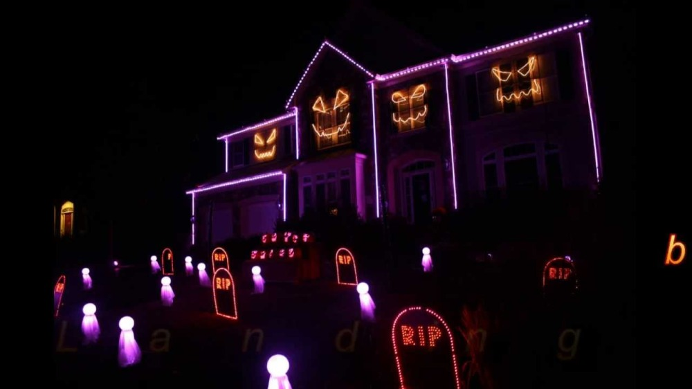 Halloween 2016 Light Show