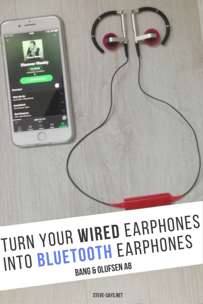 Turn Your Wired Earphones Into Bluetooth Earphones Bang & Olufsen A8 earphones