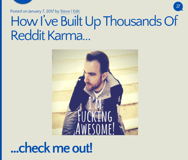 How I've Built Up Thousands Of Reddit Karma…