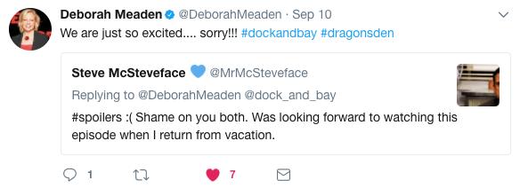 Deborah Meaden Twitter